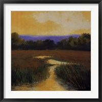 Framed Yellow Sky Stream
