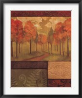 Framed Autumn Tapestry I