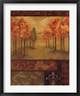 Framed Autumn Tapestry II