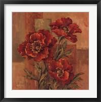 Poppies Terra Cotta Framed Print