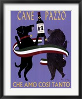 Framed Cane Pazzo