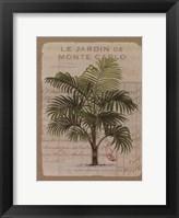 Framed Le Jardin de Monte Carlo