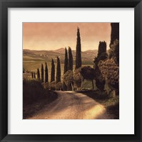 Framed Country Lane, Tuscany