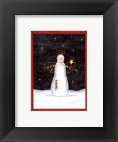 Snow Happy Guy Framed Print