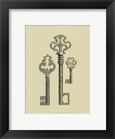 Antique Keys II Framed Print