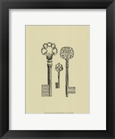 Antique Keys III Framed Print