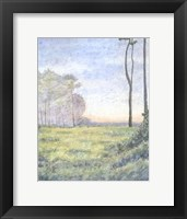 Framed Tranquil Horizon I