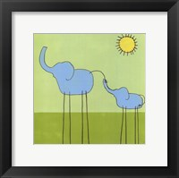 Stick-Leg Elephant II Framed Print
