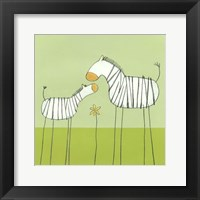 Framed Stick-Leg Zebra II