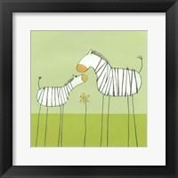 Stick-Leg Zebra II Framed Print