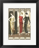 Framed Art Deco Elegance I