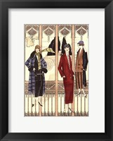 Framed Art Deco Elegance III