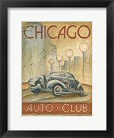 Framed Chicago Auto Club