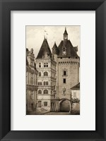 Framed Small Sepia Chateaux VI