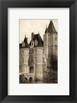 Framed Small Sepia Chateaux VII