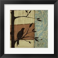 Arts Crafts Silhouette III Framed Print