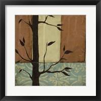 Arts Crafts Silhouette V Framed Print