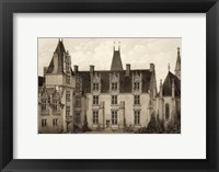 Framed Petite Sepia Chateaux I