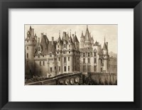 Framed Petite Sepia Chateaux II