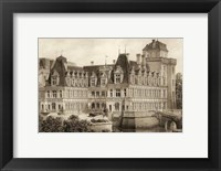 Framed Petite Sepia Chateaux IV