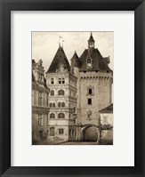 Framed Petite Sepia Chateaux VI