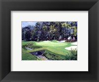The 13th At Augusta-Azalea Framed Print