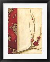 Crimson Branch I Framed Print