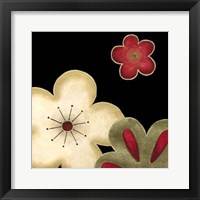 Pop Blossoms In Red I Framed Print
