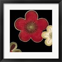Pop Blossoms In Red II Framed Print