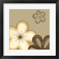 Pop Blossoms In Neutral I Framed Print