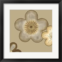Pop Blossoms In Neutral II Framed Print