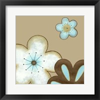 Pop Blossoms In Blue I Framed Print