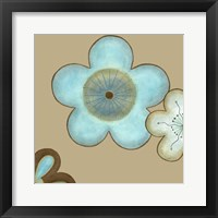 Pop Blossoms In Blue II Framed Print