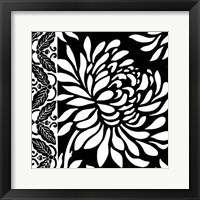 Framed Graphic Chrysanthemums II