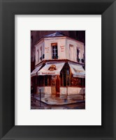 Framed Bake Shop In The Rain, Paris