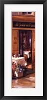 La Petite Terrasse - Detail Framed Print