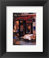Cafe At Sunrise, Paris Framed Print