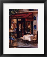 Framed Cafe At Sunrise, Paris