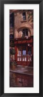 Left Bank Bistro Panel Framed Print