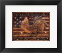 Framed Old Glory Rooster