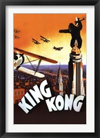Framed King Kong - (brown, orange, airplane)