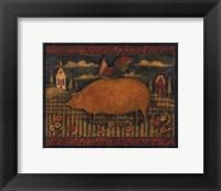Framed Farmhouse Pig