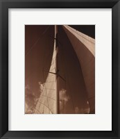 Windward Sail IV Framed Print