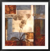 Framed Blue Orchid II