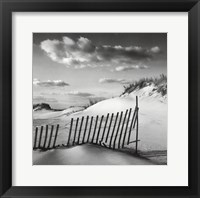 Sand & Snow Framed Print