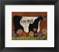 Framed Live Well Cow