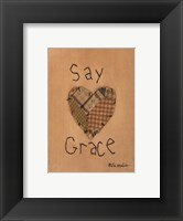 Framed Say Grace