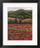 Framed Blue Ridge Poppies