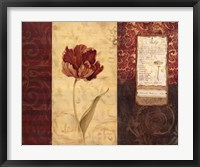 Tulip Montage Framed Print
