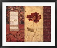 Peony Montage Framed Print